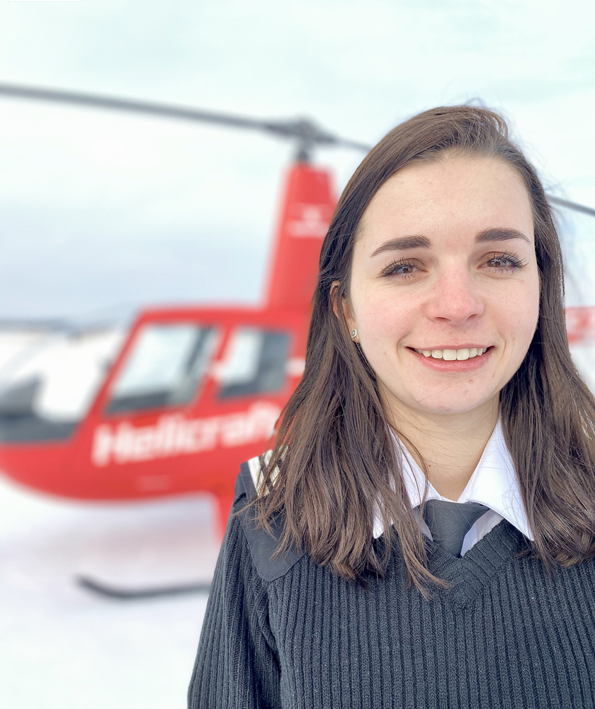 noemie descombes helicraft ecole pilotage quebec licence cpl